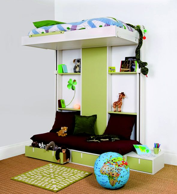 small kids bedroom ideas small space bedroom designs idea with mobile bed - Beds For Small Spaces