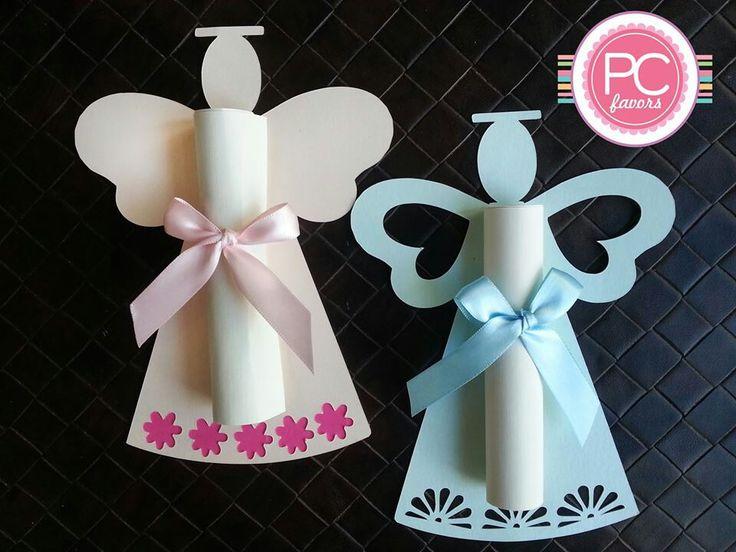 Invitaciones angelito ideales para primera comuni n o - Manualidades para comunion de nina ...