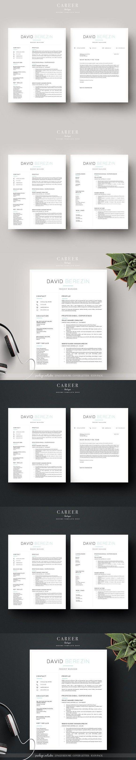 Modern resume u0026 CoverLetter Template resume 576