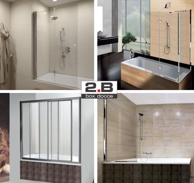 Trasforma il tuo bagno. Rinnova la tua vasca in doccia. Paratie Vasca #BoxDocce2B. Turn your bathroom. Renew your bathtub into a shower. #BoxDocce2B Bath Tub Screens.