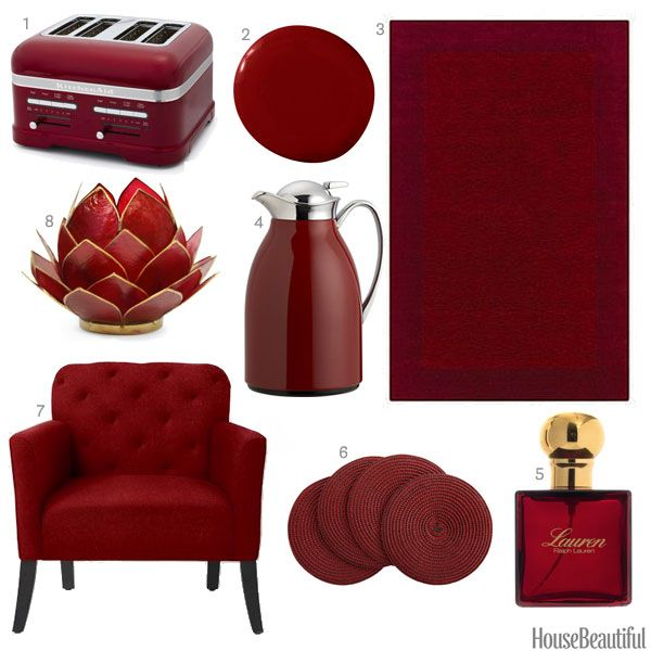 84 Best Images About Color: Red Home Decor On Pinterest | Red