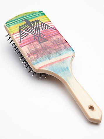 Free People Hand Painted Wooden Brush