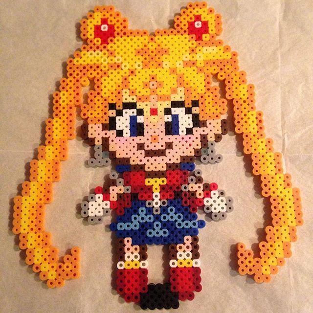 Sailor Moon perler beads by  lizdejesus23 (original design: Geekmythologycrafts)
