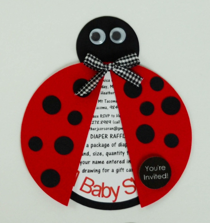 hop on over ladybug baby shower invites