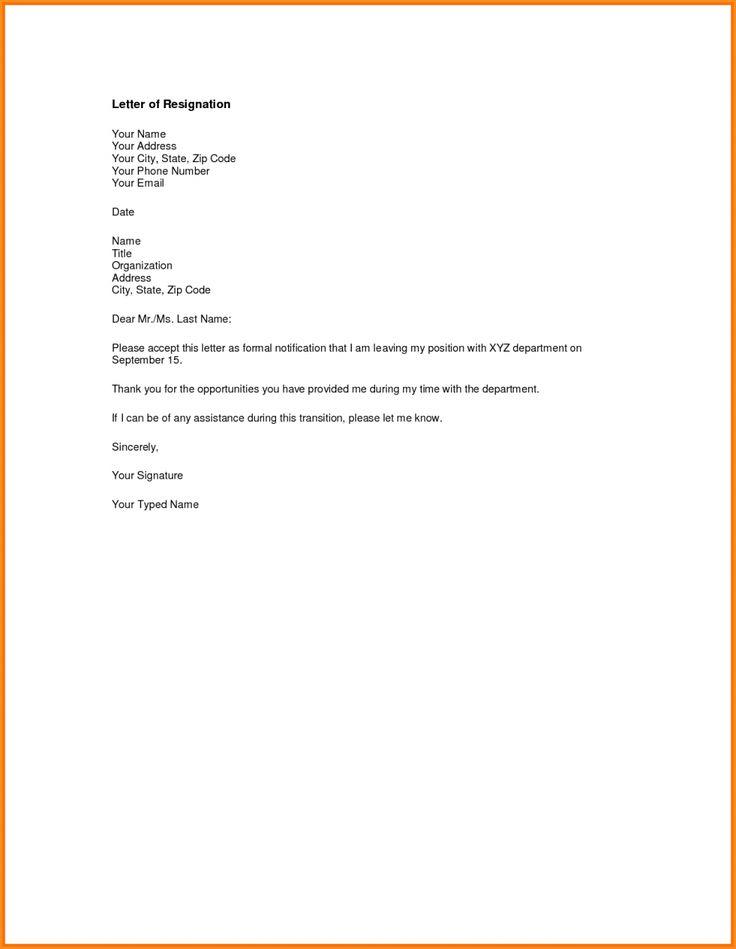 Több mint 25 egyedi ötlet a Pinteresten a következővel - letters of resignation sample