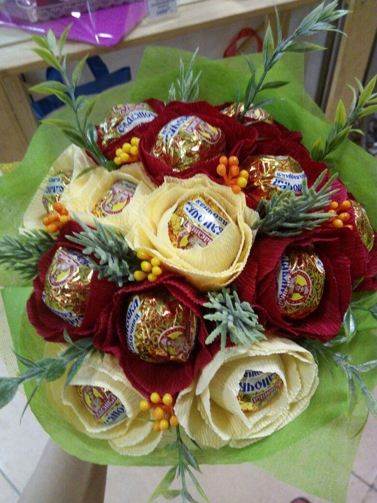 Букет из конфет #ногинск #панорама