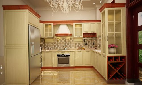 Ấn tượng phong cách tân cổ điển trong gian bếp nhỏ