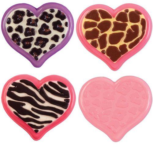 Heart Animal Print Candy Mold
