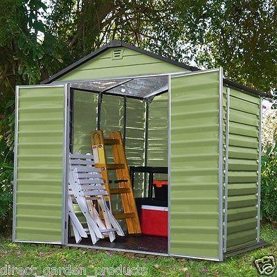 green plastic garden sheds skylight aluminium frame 4x6 6x5 6x8 10x6 un used - Garden Sheds 6 X 5