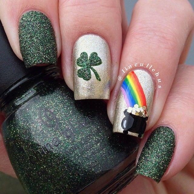 lineullehus St. patrick's day #nail #nails #nailart