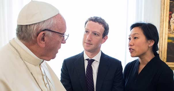 papa francisco encuentro mark zuckeberg fundador facebook