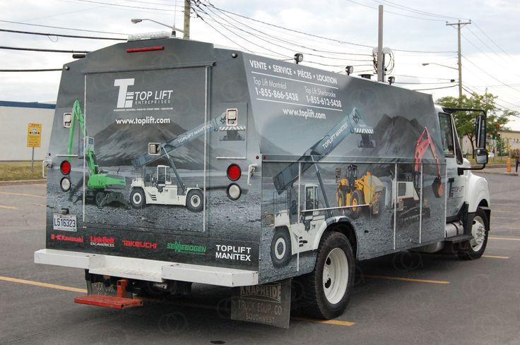 Vehicle wrap on KUVcc for Top Lift Inc.