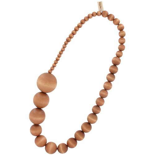 Fun and funky, the beads on this piece start out small and gradually increase in size. aarikka Sand Kamelia Necklace.