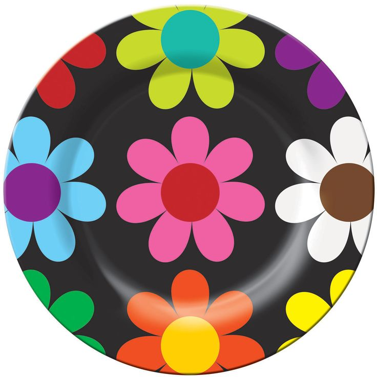 French Bull, Daisy, Melamine, Plate, Bright, Colorful, Fun, Indoor, Outdoor, Entertaining, Every Day, Happy