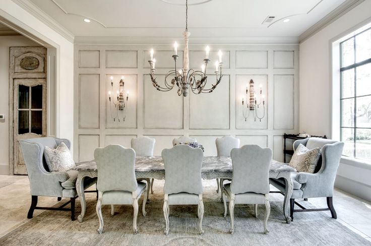 This plush dining room was completed by Tracy Design Studio. #luxeHouston