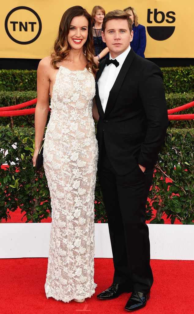 Allen Leech & Charlie Webster from Couples at the 2015 SAG Awards   E! Online