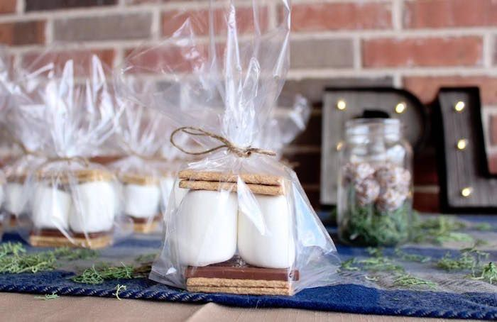 S'more favor from a Rustic Woodland Camping Birthday Party on Kara's Party Ideas | KarasPartyIdeas.com (11)