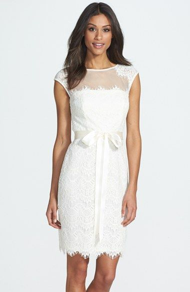 Xscape Cap Sleeve Lace Dress available at #Nordstrom