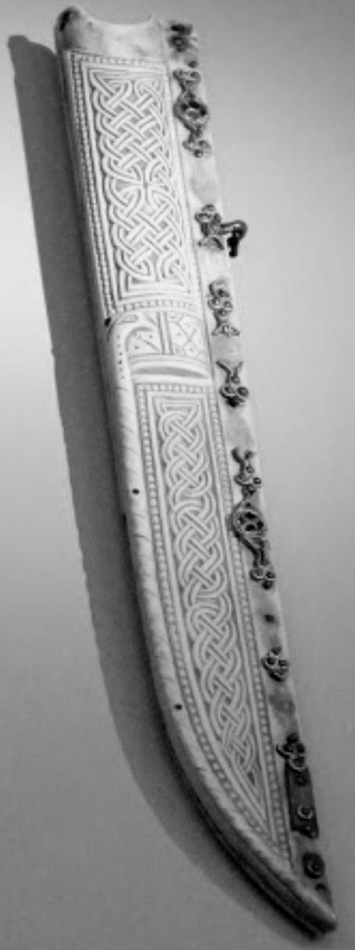 a very unusual ivory sheath, Saxon, 8-9th century