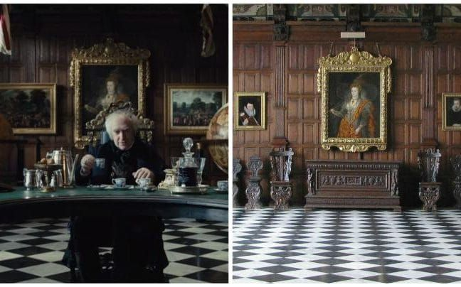 BBC TV 2017 series Taboo Interior scenes set at the East India's Company's London HQ were actually shot in the Marble Hall in Hertfordshire's Hatfield House, a Jacobean stately home that has previously been used in several films and TV shows. The painting of Elizabeth I, kept in the hall and seen in Taboo behind Jonathan Pryce's Sir Stuart Strange, is the famous Rainbow Portrait, painted (art historians believe) by Marcus Gheeraerts the Younger, just a few years before the...