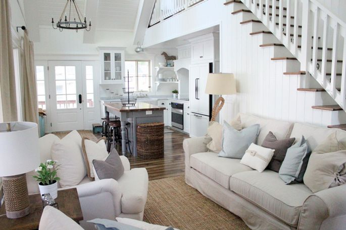 Renovation and Makeover Tour - It went from a pine cabin to a white cottage living space