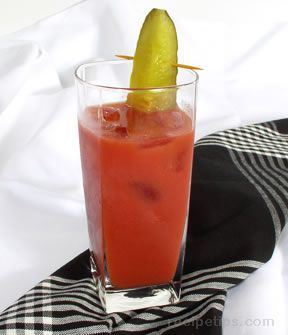 Bloody Shame - Virgin Bloody Mary...for an actual Bloody - just add the liquor!  Taking into work for a birthday as the bloody shame. :)