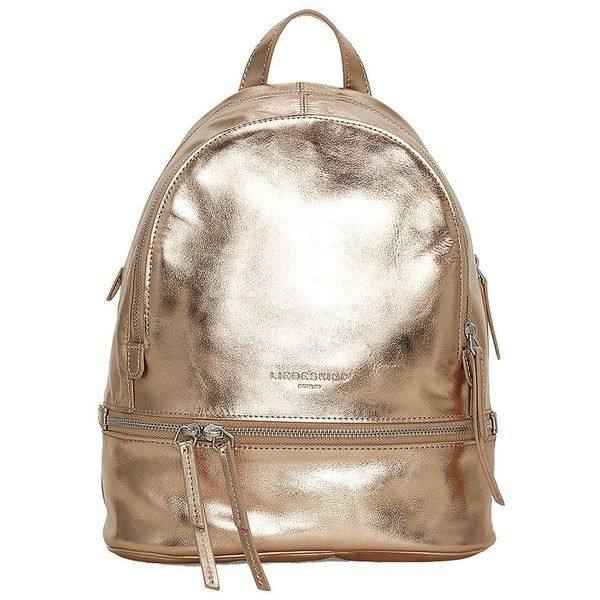 Liebeskind Lottaf8 Leather Backpack - Moonlight (325 BAM) ❤ liked on Polyvore featuring bags, backpacks, moonlight, leather daypack, leather zip bag, zip bag, genuine leather backpack and liebeskind