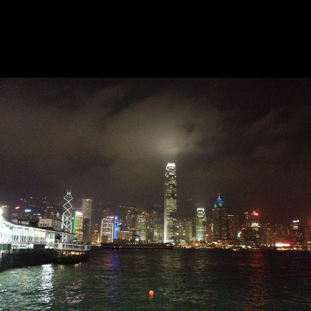 Hong Kong Night Scene -shot from Tsim Sha Tsui (Kowloon) side 02