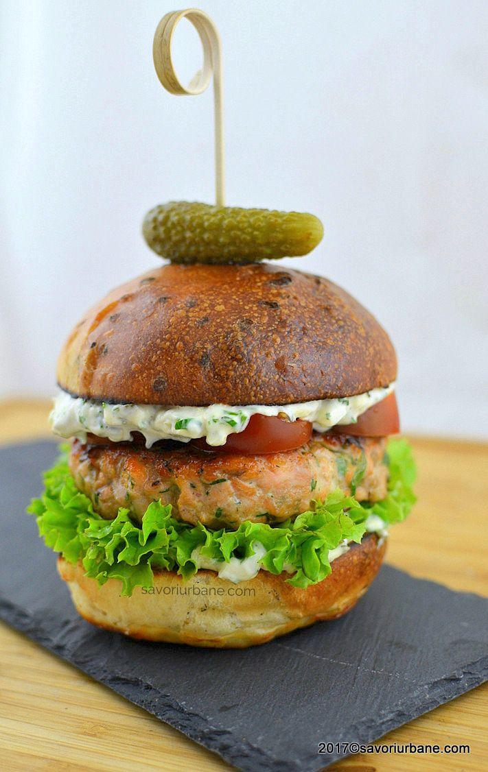 cum se face burger de somon de casa reteta