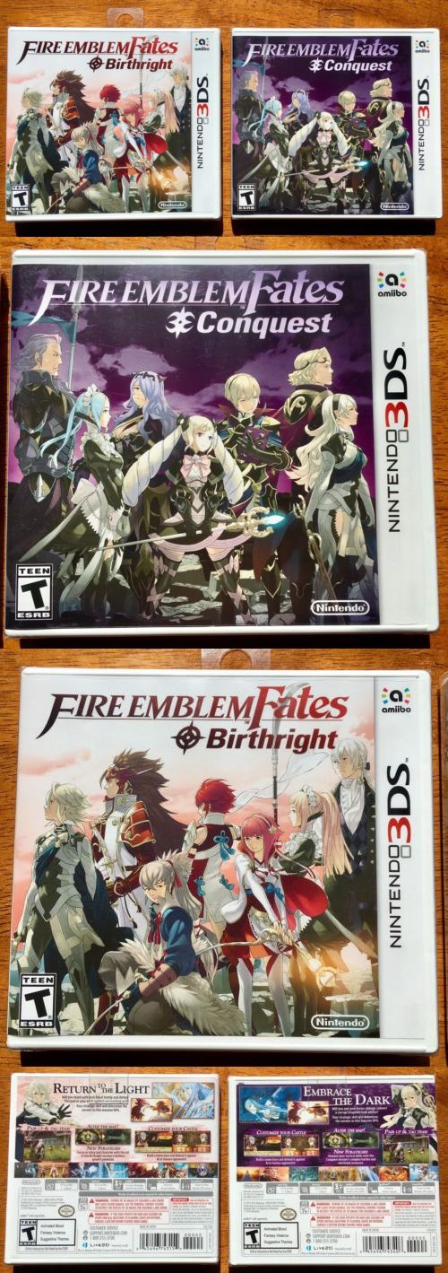 Video Gaming: Fire Emblem Fates: Conquest And Birthright For Nintendo 3Ds. New, Sealed! -> BUY IT NOW ONLY: $52 on eBay!