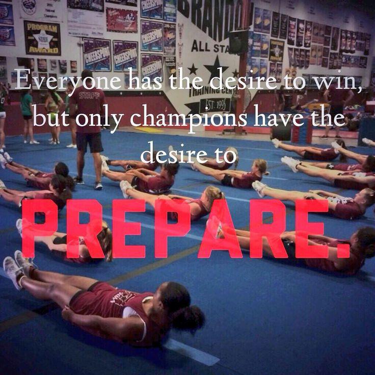 Prepare to be a champion