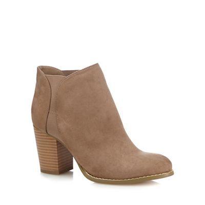 Red Herring Tan textured high heel Chelsea boots | Debenhams