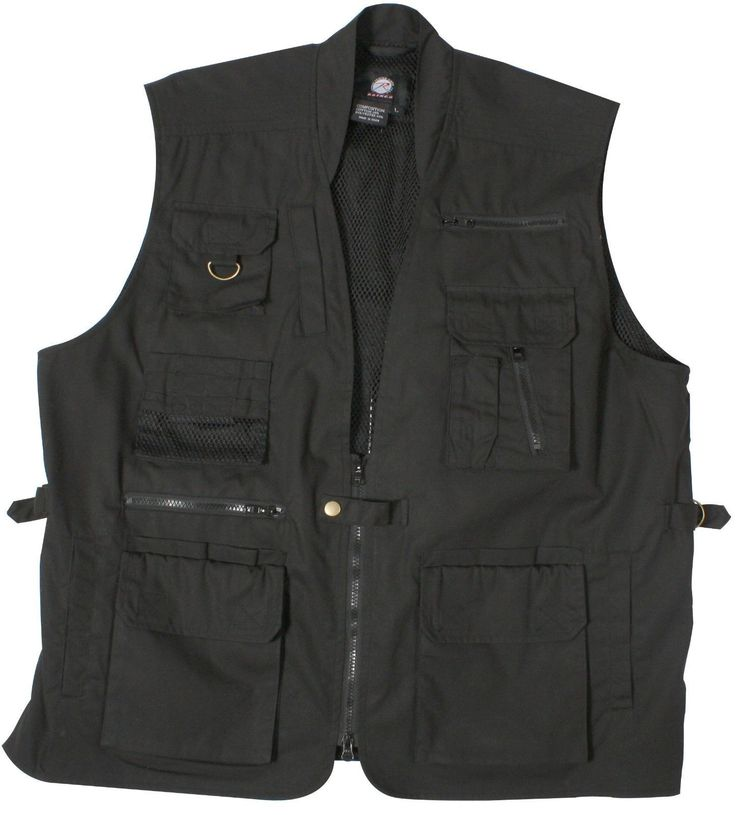 Plain Clothes Concealed Carry Tactical Cargo Vest - Black Khaki or Olive