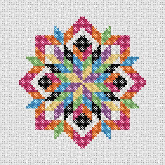 Cross Stitch PDF Pattern Quilt Block Easy Beginner by Stitcharific