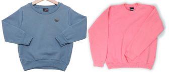 Uma blusinha que pode ser usada para compor abrigos, uniformes ou mesmo pijamas com esquema de modelagem de 6 meses a 16 anos.