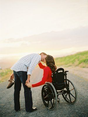 Nice engagement photo ideas for wheelchair-users. >>> See it. Believe it. Do it. Watch thousands of SCI videos at SPINALpedia.com