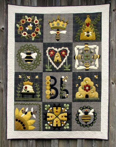 Blessed Bee Quilt pattern at Wooden Spool Designs