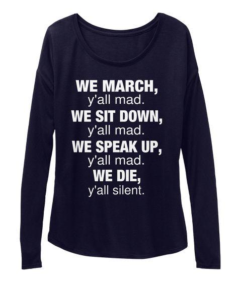 We March Women's Flowy Long Sleeve Tee
