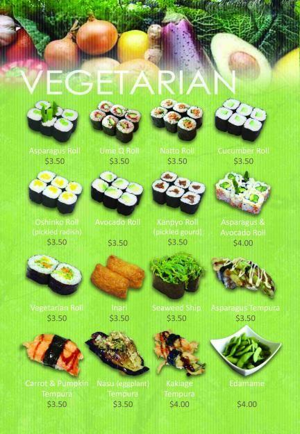 vegetarian sushi inspiration!