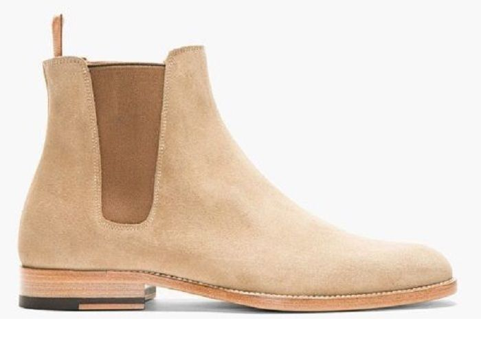 Handmade men Chelsea Tan suede leather boot Men suede leather ankle boot  #Handmade #ankleboot