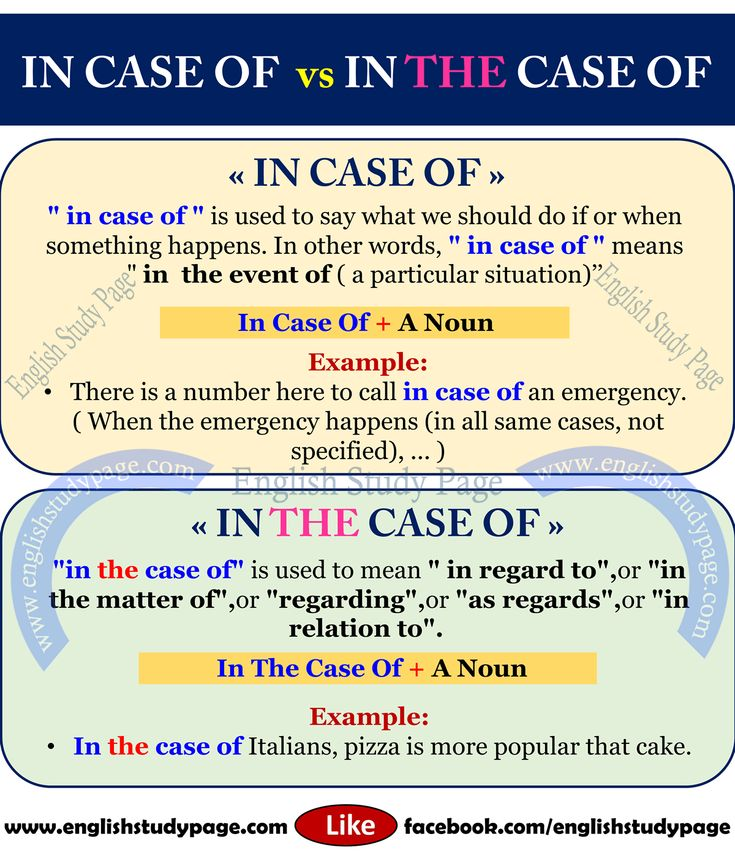 """in case of"" vs ""in the case of"" in English – English Study Page"