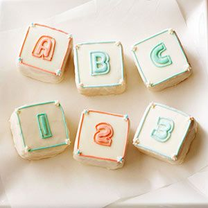 ABC Block Cupcakes From Better Homes and Gardens, ideas and improvement projects for your home and garden plus recipes and entertaining ideas.