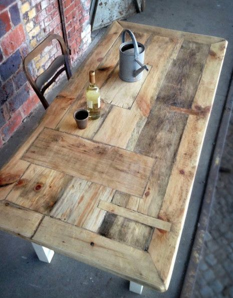Recycled wood table, German. A lot of work to fit …