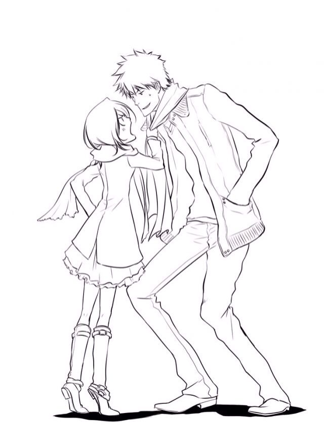 ah I love how short Rukia is compared to Ichigo it just makes them cuter.. I don't know why