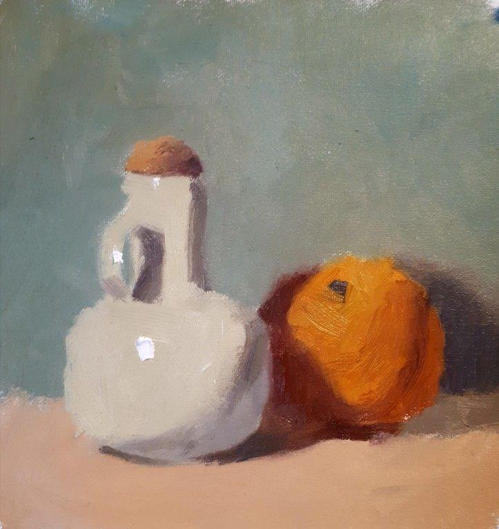 Orange with White Ceramic - By Steven Szczebiot