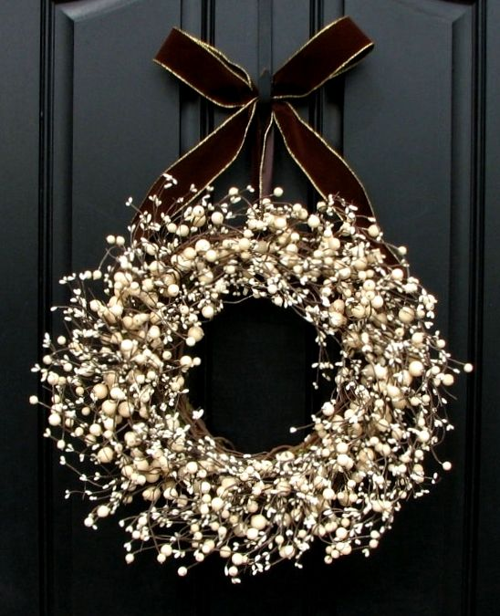 #Christmas #wreath  ToniK Ðℯck Ʈհe HÅĿĿs #DIY #crafts http://www.etsy.com/listing/84204452/berry-wreath-for-front-door-decor-sugar?ref=sr_gallery_13ga_search_submit=ga_ref=autoga_search_query=outdoor+wreathsga_view_type=galleryga_ship_to=USga_search_type=handmadega_facet=handmade