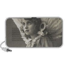 Vintage Girl Angel Symbol of Hope 1900s Anchor Mini Speaker