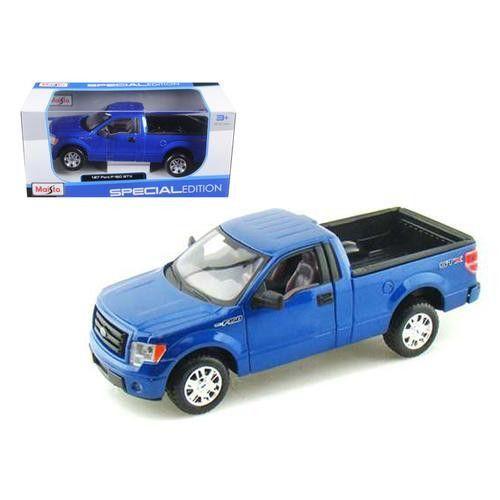 2010 Ford F-150 STX Pickup Truck Blue 1/27 Diecast Model by Maisto