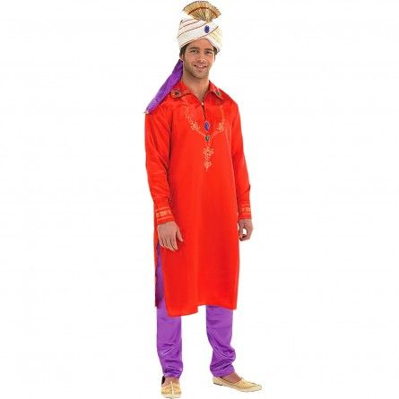 Mens Red Bollywood Costume