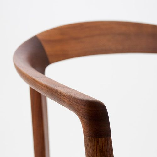 the beautiful wood of the DC10 chair by Inoda+Sveje.